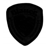 Patch embroidery BLAUER ,Gray 6cm x 8cm