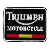 Parche bordado TRIUMPH MOTORCYCLE ESPAÑA 8cm x 6.3cm