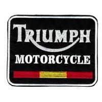 Patch embroidery TRIUMPH MOTORCYCLE SPAIN 8cm x 6.3cm