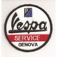 Patch embroidery VESPA SERVICE 74mmx 74mm