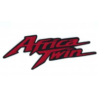 Patch embroidery RED AFRICA TWIN 26cm x 9cm