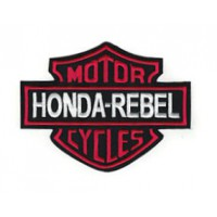 Parche bordado HONDA REBEL MOTOR CYCLES 15cm x 11,5cm