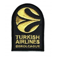 GOLDEN EUROLEAGUE TURKISH AIRLINES 2019 patch embroidery 5cm x 7.5cm