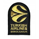 Parche bordado TURKISH AIRLINES EUROLEAGE DORADO 2019 5cm x 7,5cm