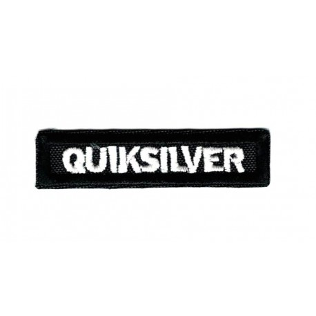 Patch embroidery WHITE QUIKSILVER 20cm x 5cm