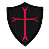 Patch embroidery TEMPLAR SHIELD 6cm x 7,5cm
