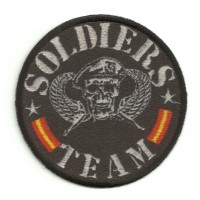 Textile and embroidery patch SOLDIERS TEAM 7,5cm