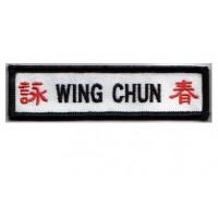 Parche bordado WING CHUN 10cm x 2cm