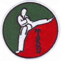Patch embroidery TAEKWONDO TKD 30cm