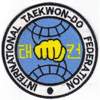 Patch embroidery TAEKWONDO FEDERATION INTERNATIONAL 30CM