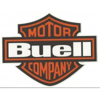 Patch textil BUELL MOTOR CYCLES NARANJA 8,5cm x 6,5cm