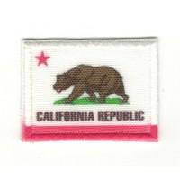 Parche bordado y textil BANDERA CALIFORNIA REPUBLIC 7cm x 5cm