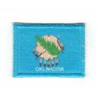 Patch embroidery and textile FLAG OKLAHOMA 7CM x 5CM