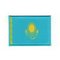 Embroidery and textile patch FLAG KAZAKHSTAN 7CM X 5CM