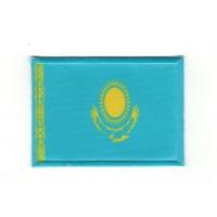 Parche bordado y textil BANDERA KAZAKHSTAN 7CM X 5CM
