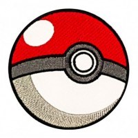 Parche bordado POKEMON POKEBALL 8cm