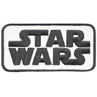 Patch embroidery STAR WARS WHITE 8cm x 5cm