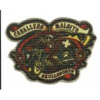 Parche textil CABALLERO MALDITO 10cm x 7cm