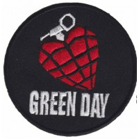 Embroidery patch GREEN DAY 8cm