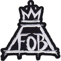 Embroidery patch FALL OUT BOY 16cm x 16cm