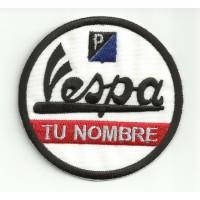 Parche bordado VESPA CON TU NOMBRE 7,5 cm
