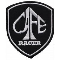 Parche bordado CAFE RACER ESCUDO 6cm x 7,5cm