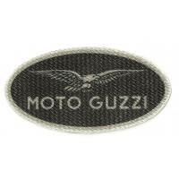 Parche textil MOTO GUZZI NEGRO 10cm x 5cm