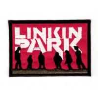 Parche bordado LINKIN PARK ROJO 8cm x 5cm