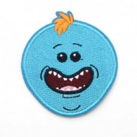 Embroidery patch RICK & MORTY MEESEEKS 8cm x 8cm