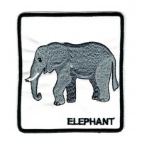 Embroidery patch ELEPHANT 8cm x 9cm