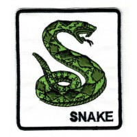 Embroidery patch GREEN SNAKE 8cm x 9cm