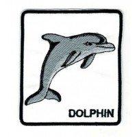 Embroidery patch DOLPHIN 8cm x 9cm
