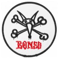 Parche bordado BONES BLANCO 7,5cm