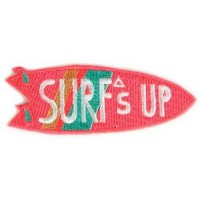Parche bordado SURF S UP 8,5cm x 3cm