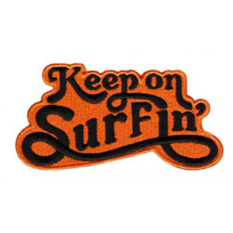 Embroidery patch KEEP ON SURFIN 8,5cm x 3,5cm