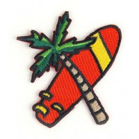Embroidery patch PALM TREE 7cm x 7cm