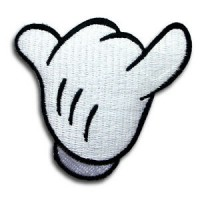 Embroidery patch HANG LOOSE MICKEY 7,5cm x 7,5cm