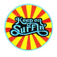 Embroidery patch KEEP ON SURFIN 8,5cm