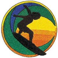Embroidery patch BOY SURFING 7,5cm x 7,5cm