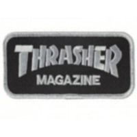 Embroidery Patch THRASHER BLACK 8cm x 3,5cm