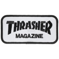 Embroidery Patch THRASHER WHITE 8cm x 3,5cm