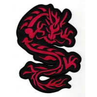 Embroidered patch DRAGON RED 15,5cm x 22cm
