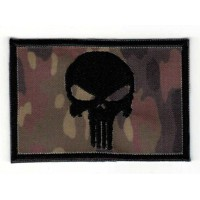 Embroidered patch FLAG FLEKTARN BLACK SKULL (The punisher) 7,5cm x 5cm