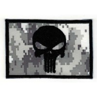 Embroidered patch FLAG URBAN DIGITAL SKULL (The punisher) 7,5cm x 5cm
