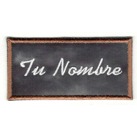 Embroidered patch SLATE YOUR NAME 8cm x 4cm
