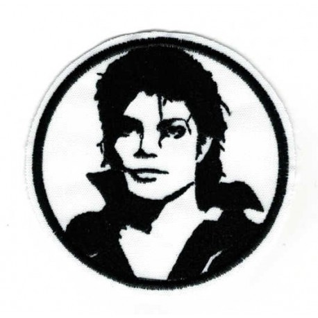Embroidered patch MICHAEL JACKSON 8cm
