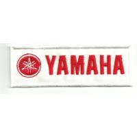 Patch embroidery YAMAHA ROJO 10cm x 3cm .