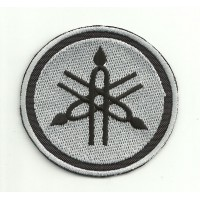 Patch embroidery YAMAHA LOGO NEGRO-GRIS 7cm diameter