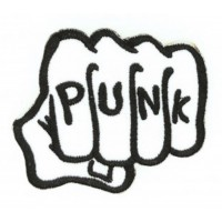 Embroidery patch PUNK 8cm x 7cm