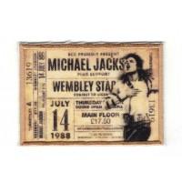 Textile and embroidery patch WEMBLEY ENTRANCE MICHAEL JACKSON 7.5cm x 5cm